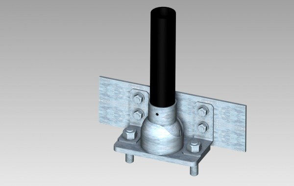 Adjustable Base Plate With Kick Plate